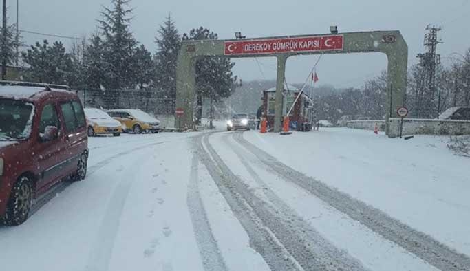 Kar yağışı Trakya'dan giriş yaptı