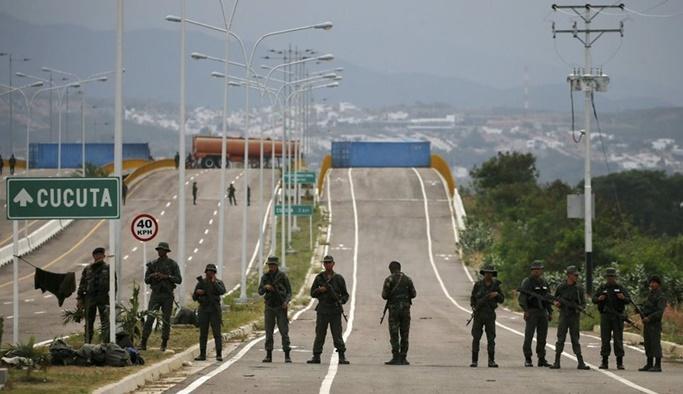 Venezuela ordusu sınırlara konuşlandı