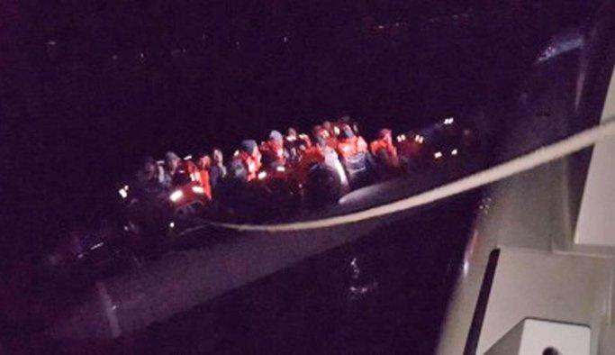 Yunanistan'a geçmeye çalışan 62 kişi yakalandı