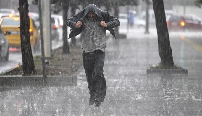 14 Mart hava durumu:  Kuvvetli sağanak yağış uyarısı