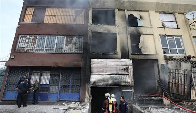 Ankara'da göçmenlerin kaldığı binada yangın