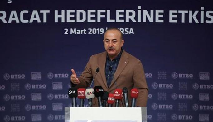 Çavuşoğlu: İran'ı köşeye sıkıştırmak çok tehlikeli