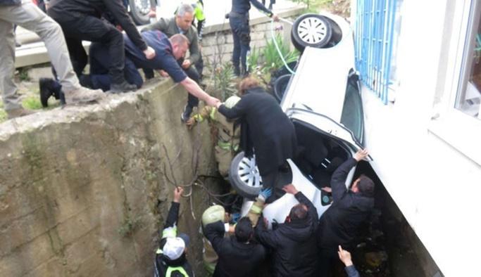 Erdoğan'ın oy kullanacağı okulun yanında kaza