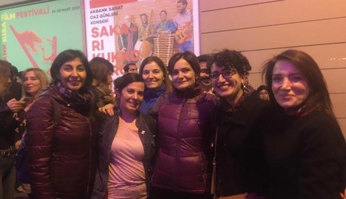 Ezana saygısızlık yürüyüşünde CHP'li yönetici kadınlar da vardı