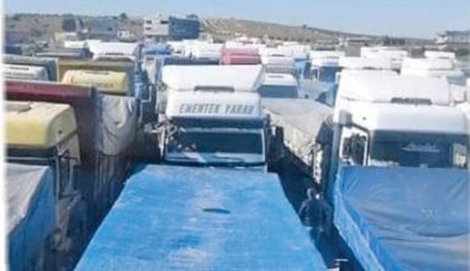 Terör örgütüne giden 250 TIR'a el kondu