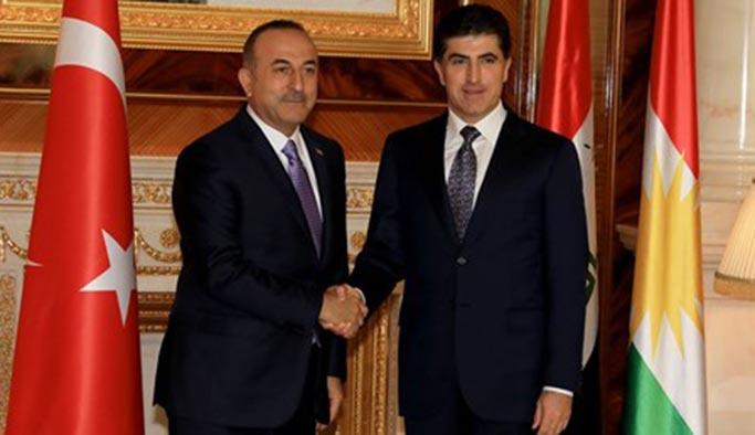Çavuşoğlu, Barzani ile bir araya geldi
