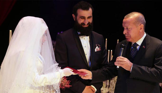 Cumhurbaşkanı Erdoğan, 'Abdurrahman'ın nikah şahidi oldu