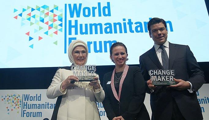Dünya İnsaniyet Forumu'ndan Emine Erdoğan'a ödül