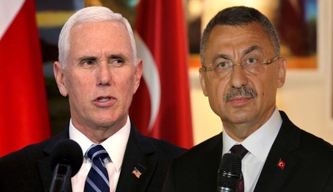 Fuat Oktay ve Mike Pence'den karşılıklı açıklamalar