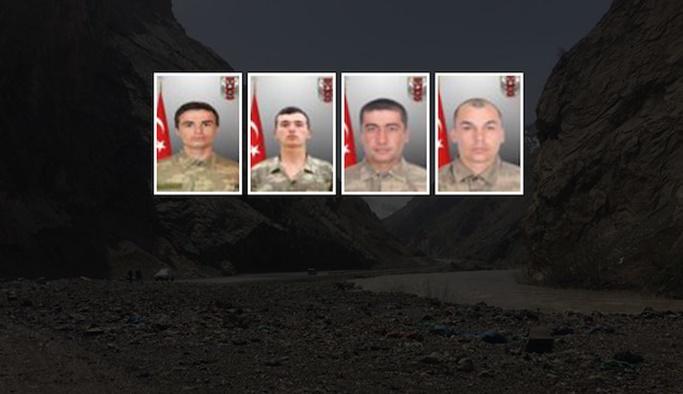Sınırda şehit düşen askerlerin isimleri açıklandı