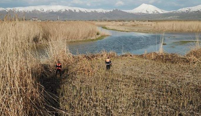 Van Gölü kefaline drone ile denetim