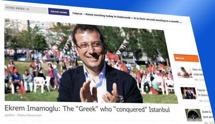 Yunan basınında İmamoğlu manşeti: İstanbul'u ele geçiren bir Yunan