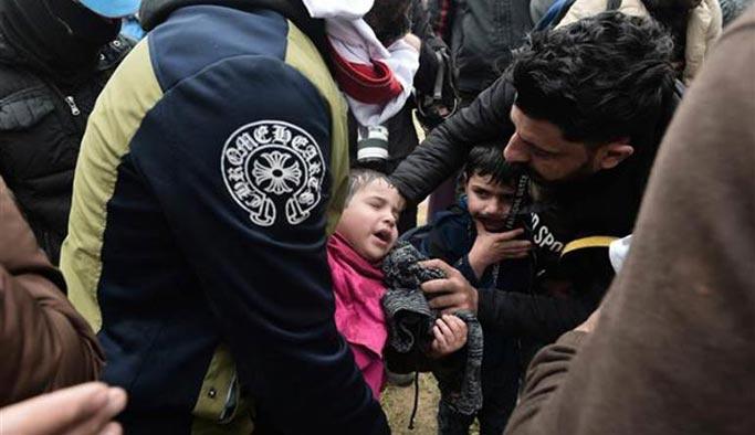 Yunan polisi ile göçmenler arasında gerilim