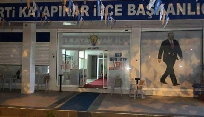 AK Parti ilçe başkanlığına bombalı saldırı