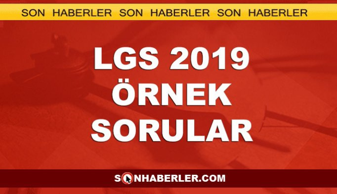 LGS 2019 Mayıs ayı örnek soruları PDF