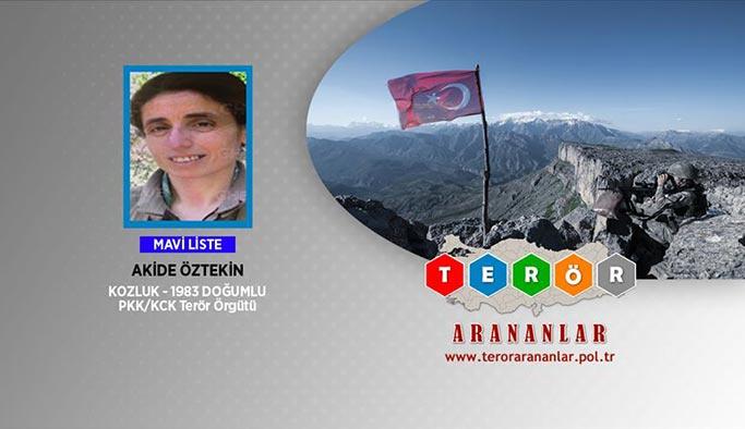 Üst düzey PKK'lı terörist kadın öldürüldü