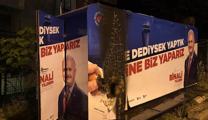 Beşiktaş'ta AK Parti seçim bürosuna saldırı