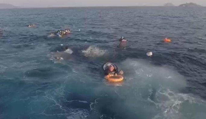 Bodrum'da göçmenleri taşıyan tekne battı: Ölüler var