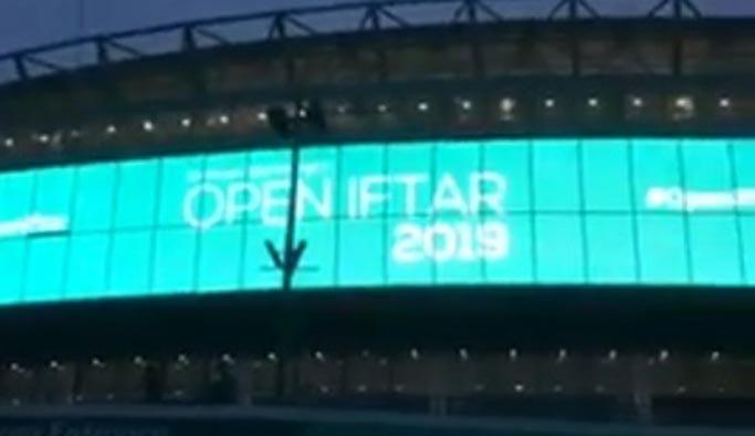 İngiltere'de Wembley Stadyumu'nda iftar için ezan okundu