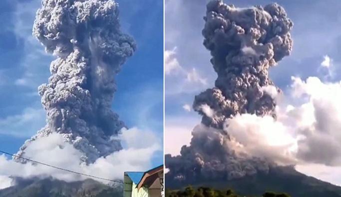 Yanardağ patladı, yetkililer uyardı