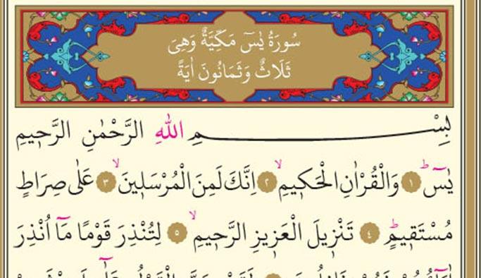 Yasin Suresi Arapça ve Türkçe okunuşu, meali, anlamı, önemi nedir?