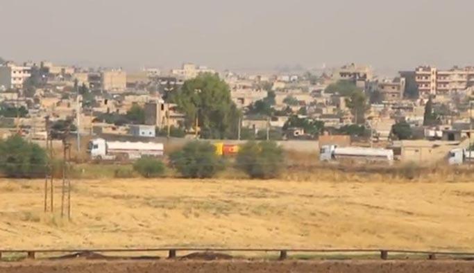 ABD'nin YPG'ye gönderdiği 200 TIR böyle görüntülendi