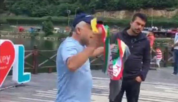 Iraklı turist Uzungöl'de 'Kürdistan yazılı atkı' takınca linç edildi