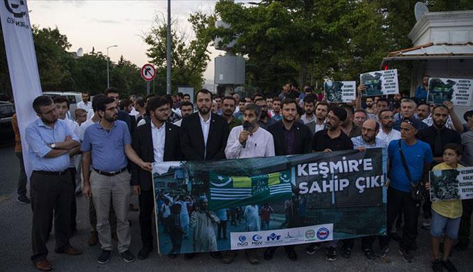 Ankara'da Keşmir protestos