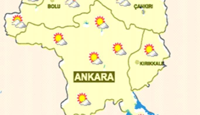 Ankara'da 16 Eylül 2019 hava durumu nasıl olacak, haritalı tahmin