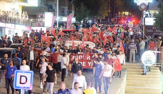 Mardin'de Diyarbakır annelerine destek yürüyüşü
