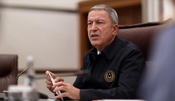 Bakan Akar uyardı: Teröristler, Türkiye yaptı diyerek kimyasal provokasyona hazırlanıyor