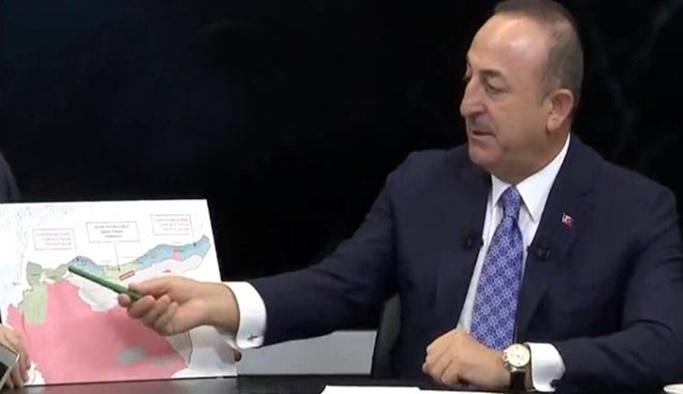 Çavuşoğlu, harita ile Soçi mutabakatını anlattı