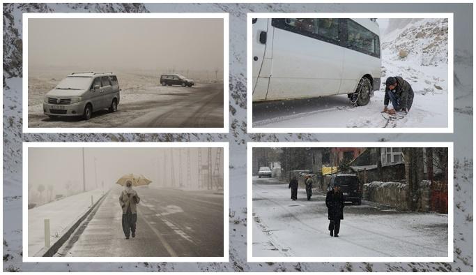 Doğu illerinde kar yağışı: Yollar kapandı