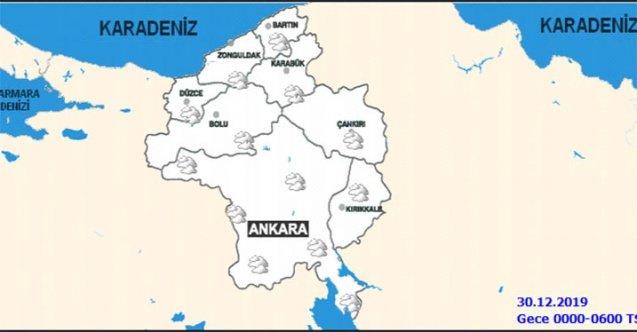 Ankara'da yarın 30 Aralık Pazartesi günü hava durumu nasıl olacak?