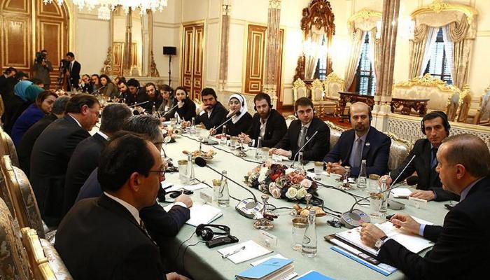 Erdoğan Suriyeli gazetecilerle buluştu