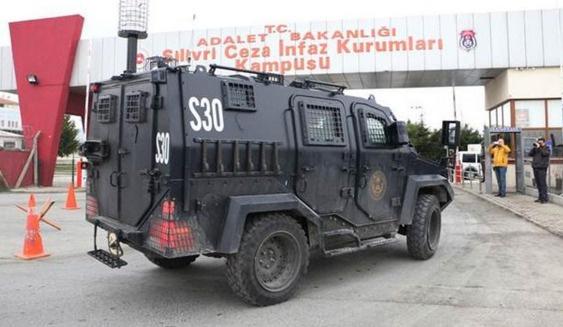 İsmail Akkol zırhlı araçla Silivri Cezaevi'nde