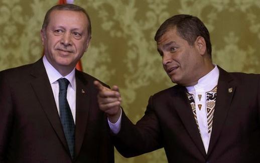 Correa'dan Erdoğan'ı protesto edenlere: Terbiyesizler