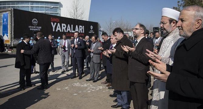 Diyanet'ten Bayırbucak Türkmenlerine 20 tırlık yardım