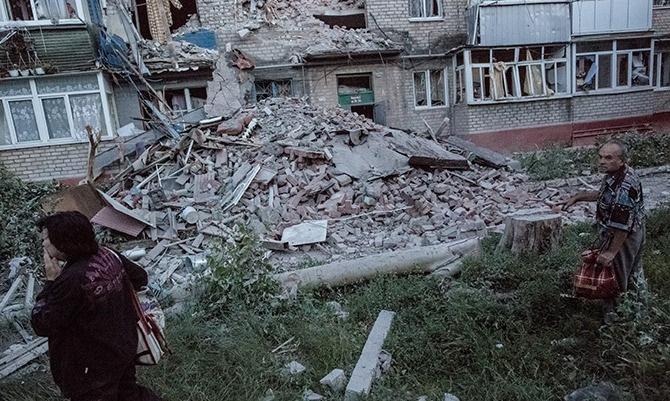 Rus bombalarıyla yıkılan şehir hala harap