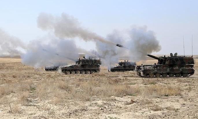 TSK, Azez'e saldıran PYD'yi topa tuttu