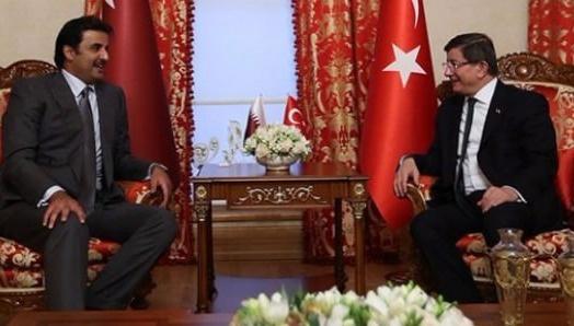 Davutoğlu ile Katar Emiri İstanbul'da görüştü