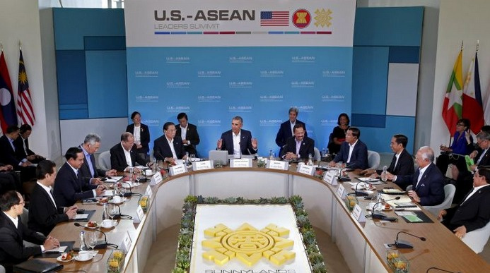 Obama ASEAN liderleriyle görüşüyor