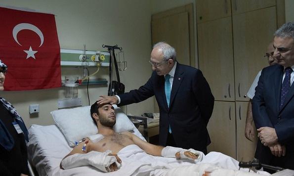 Kılıçdaroğlu GATA'da yaralıları ziyaret etti