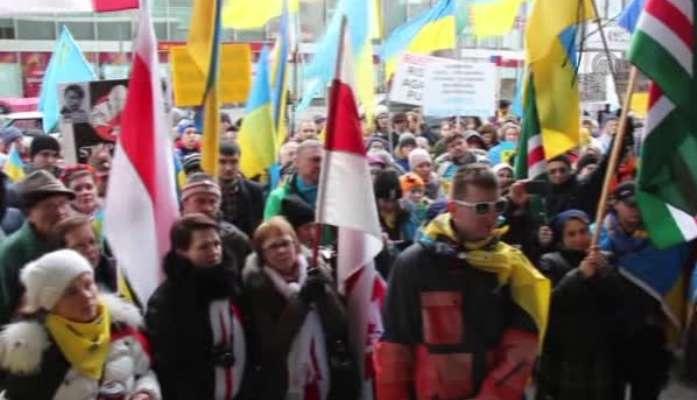 Kırım'ı işgali protesto edildi
