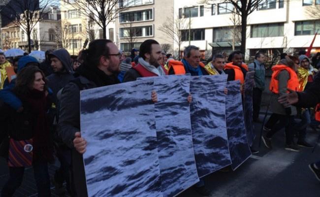 Brüksel'de enerji ve vergi protestoları