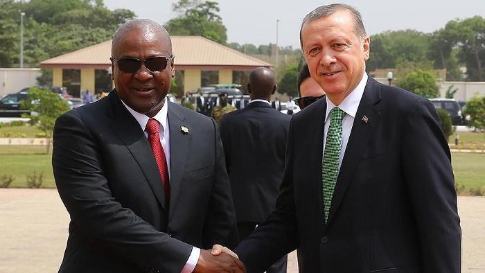 Erdoğan Gana'da resmi törenle karşılandı