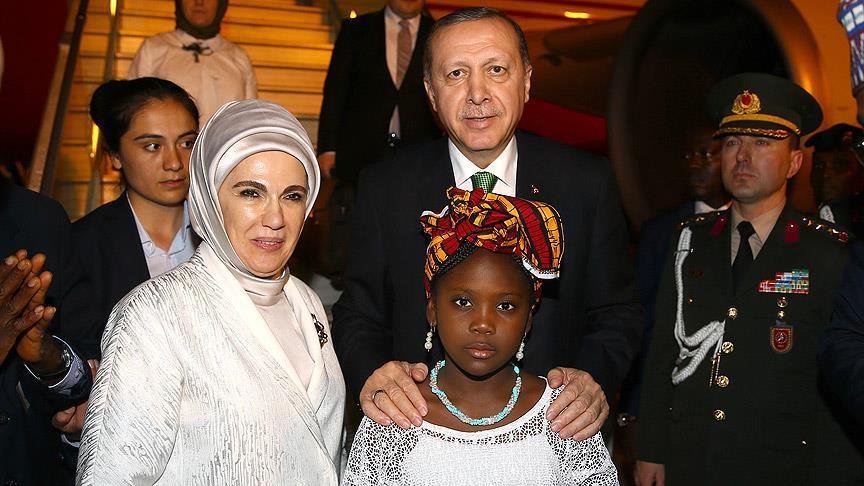 Erdoğan Batı Afrika'da üçüncü ülkede