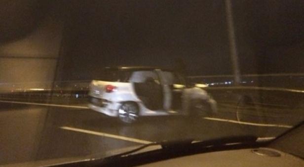 Boğaz'da trafiği kilitleyen kaza