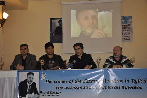 Tacik muhalif lider İstanbul'da anıldı
