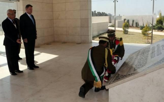 Romanya Cumhurbaşkanı Filistin'de